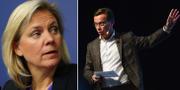 Magdalena Andersson och M:s ekonomisk-politiske talesperson Ulf Kristersson. TT