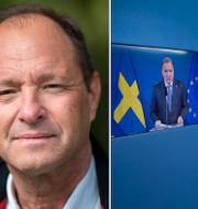 Björn Olsen/Bild från regeringens pressträff igår. TT