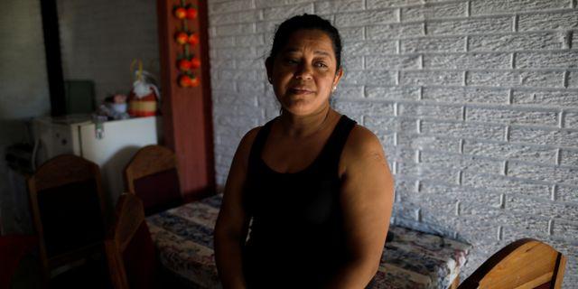 Rosa Ramirez son Óscar Alberto Martinez dog tillsammans med sin dotter Valeria när de försökte korsa Rio Grande. JOSE CABEZAS / TT NYHETSBYRÅN