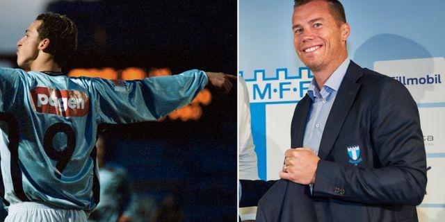 Zlatan Ibrahimovic och Daniel Andersson.  TT.