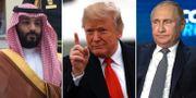 Bin Salman, Trump och Putin.  TT
