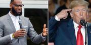 LeBron James och Donald Trump.  TT.