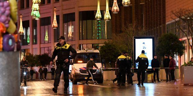 Brottsplatsen i centrala Haah. PIROSCHKA VAN DE WOUW / TT NYHETSBYRÅN