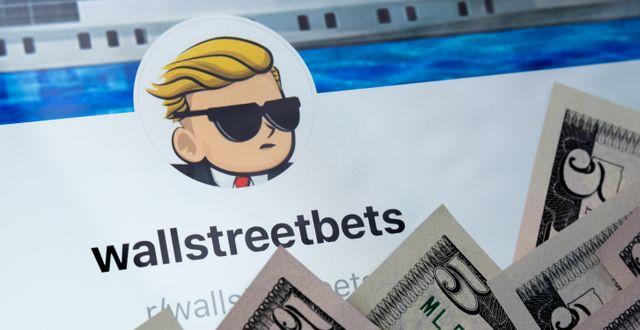 Illustrationsbild. Populära Reddit-forumet Wall Street Bets Shutterstock