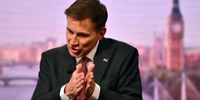 Premiärministerkandidaten Jeremy Hunt. HANDOUT / TT NYHETSBYRÅN
