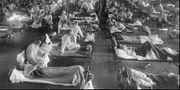 Patienter i Kansas i USA behandlas för spanska sjukan. Arkivbild. Anonymous / TT NYHETSBYRÅN