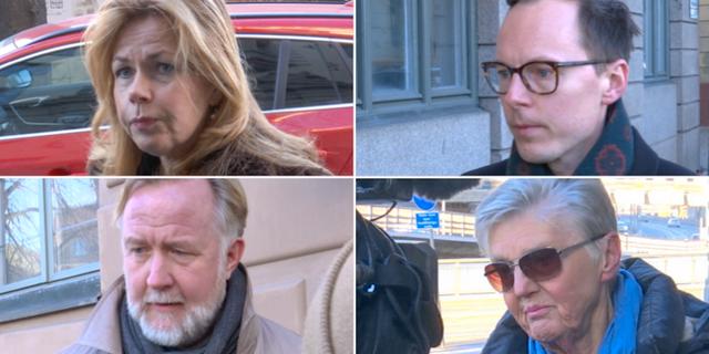 Cecilia Wikström, Mats Persson, Johan Pehrson och Barbro Westerholm anländer till Liberalernas möte på lördagen, TT