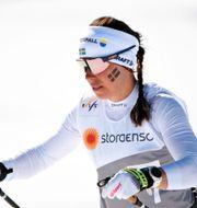 Charlotte Kalla under VM i Seefeld. Fredrik Sandberg/TT / TT NYHETSBYRÅN
