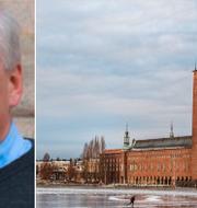 Peter Wallmark och Stockholms stadshus. Sverigedemokraterna/TT
