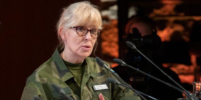 Must-chefen Lena Hallin. Arkivbild. Henrik Montgomery/TT / TT NYHETSBYRÅN