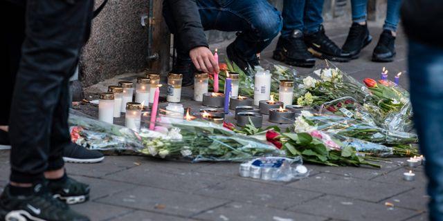 Brottsplatsen i Malmö. Johan Nilsson/TT / TT NYHETSBYRÅN
