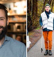 Kyle Hitchcock jobbar med miljöfrågor och hållbarhet på betalningstjänsten Zettle byPayPal. Personerna till höger jobbar inte på PayPal.  PayPal, Håll Sverige Rent