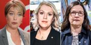 Annika Strandhäll, Lena Hallengren och Anna Ekström. TT