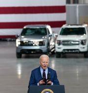 President Joe Biden vid Ford Rouge EV Center, 18 maj. Evan Vucci / TT NYHETSBYRÅN