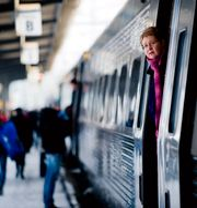 Ett SJ-tåg på centralstationen i Göteborg. ADAM IHSE / TT / TT NYHETSBYRÅN