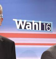 Van der Bellen (vänster) & Hofer (höger). HELMUT FOHRINGER / AFP