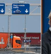 Arkivbilder: Hamnen i Belfast, Boris Johnson. TT