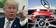 Illustration: Trump, Mercedes, Audi och BMW. TT
