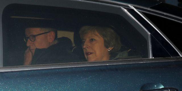 Theresa May på torsdagen. SIMON DAWSON / TT NYHETSBYRÅN