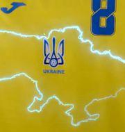 Bild på Ukrainas tröja- TT NYHETSBYRÅN