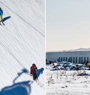Skidåkare och Sälens flygplats.  TT