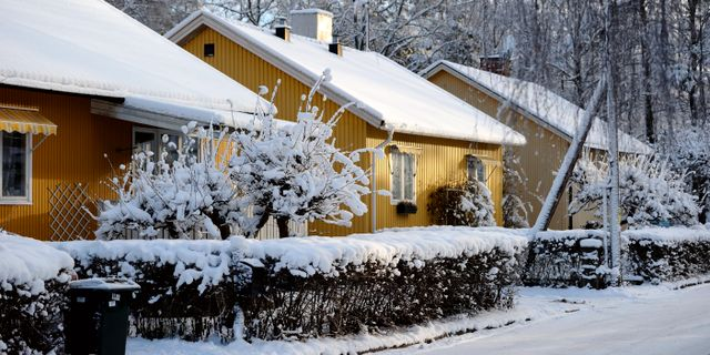 Illustration: Villakvarter i Herrängen i Stockholm. HENRIK MONTGOMERY / TT / TT NYHETSBYRÅN