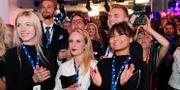 Sverigedemokrater jublar under valvaka Anders Wiklund/TT / TT NYHETSBYRÅN