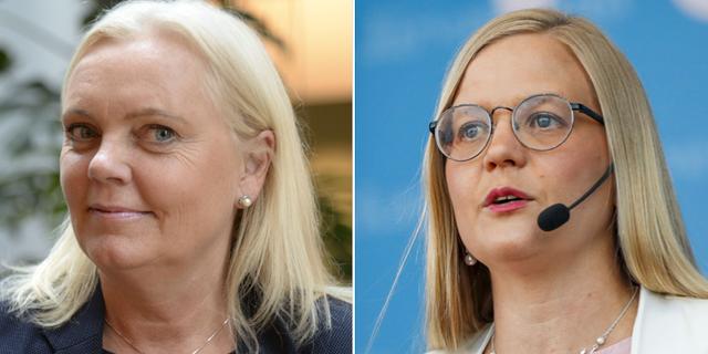 Kristina Winberg och Julia Kronlid. TT