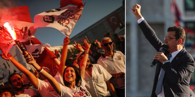 Istanbuls nya borgmästare Ekrem Imamoğlu svärs in. TT