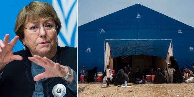 Michelle Bachelet / Lägret al-Hol i Syrien.  TT