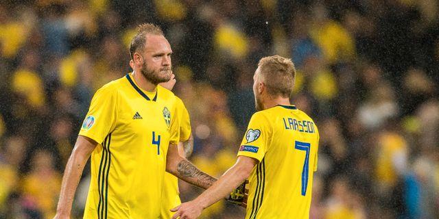 Andreas Granqvist och Sebastian Larsson. VEGARD WIVESTAD GRØTT / BILDBYRÅN NORWAY