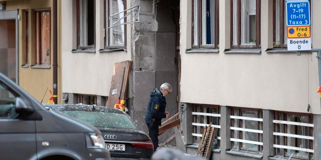 Polis på brottsplatsen TT NEWS AGENCY / TT NYHETSBYRÅN