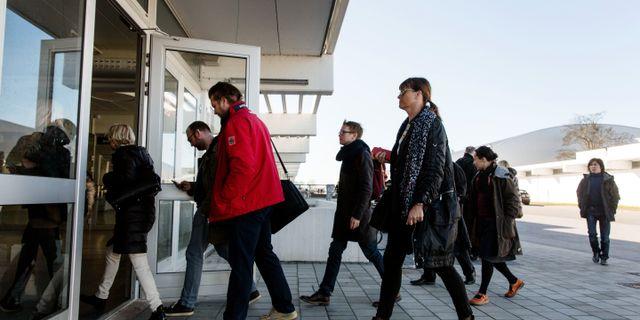 Arkivbild: Personalmöte i samband med varsel på Sony Mobile i Lund. OLA TORKELSSON / TT / TT NYHETSBYRÅN