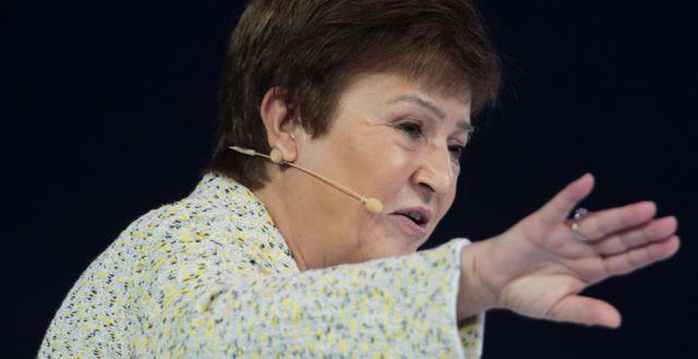 Arkivbild: IMF-chefen Kristalina Georgieva CHRISTOPHER PIKE / TT NYHETSBYRÅN