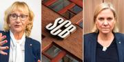 Civilminister Lena Micko (S) / Finansminister Magdalena Andersson (S). TT