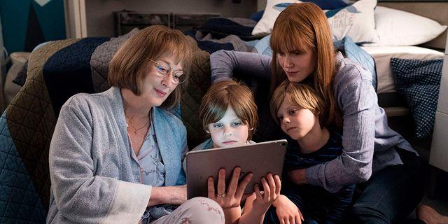 "Meryl Streep spelar Mary Louise Wright och Nicole Kidman hennes svärdotter Celeste i tv-serien ""Big little lies"". Jannifer Classen/HBO"