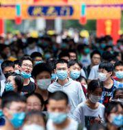Studenter i Nanjing, 7 juli. TT NYHETSBYRÅN