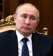 Rysslands president Vladmir Putin under ett möte i Moskva på torsdagen Mikhail Klimentyev / TT NYHETSBYRÅN