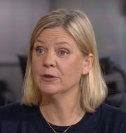 Magdalena Andersson.  Skärmdump