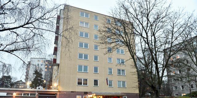 Hyreshuset ligger på Kostervägen 5 i Baggeby på Lidingö. Claudio Bresciani/TT / TT NYHETSBYRÅN