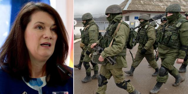 Ann Linde / proryska soldater på Krimhalvön TT