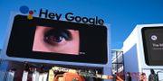 Googles bås vid CES-mässan i Las Vegas i år ROBYN BECK / AFP