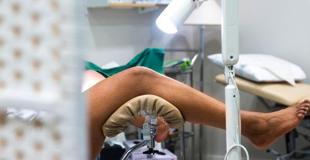 Kvinna undersöks av gynekolog. isabell Höjman/TT / TT NYHETSBYRÅN