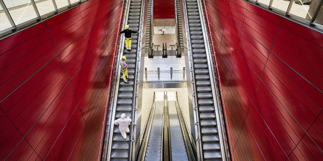 Det har putsats, fejats och trimmats  – nu är Köpenhamns nya tunnelbanelinje klar. Johan Nilsson/TT