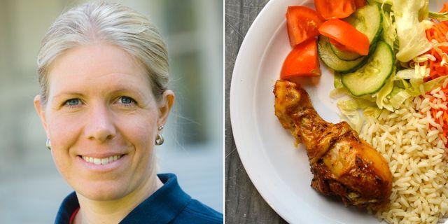 Jenny Andersson, ordförande för branschorganisationen Svensk fågel, skriver om MP:s förslag om skatt på så kallat fulkött. Foto: Svensk fågel/TT