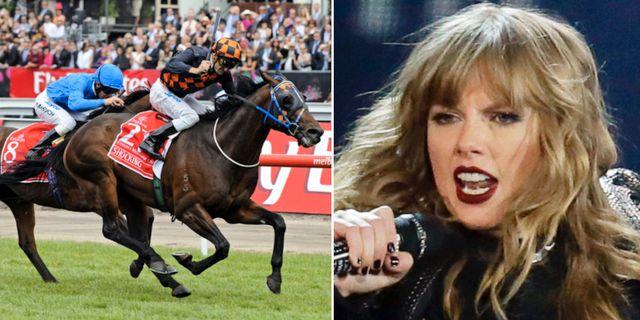 Arkivbild från Melbourne Cup/Taylor Swift.  TT.