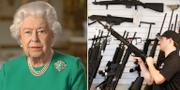 Drottning Elizabeth II/Vapenförsäljare i Utah, USA. TT