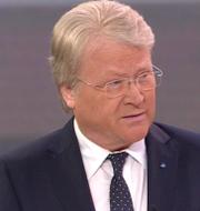 Lars Adaktusson och Carl Bildt.  Skärmdump SVT