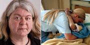 Mia Sydow Mölleby (V) tycker att det är orimligt att vårdpersonal tjänar mindre än riksdagsledamöter. TT