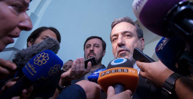 Abbas Araqchi Irans biträdande utrikesminister.  ALEX HALADA / AFP